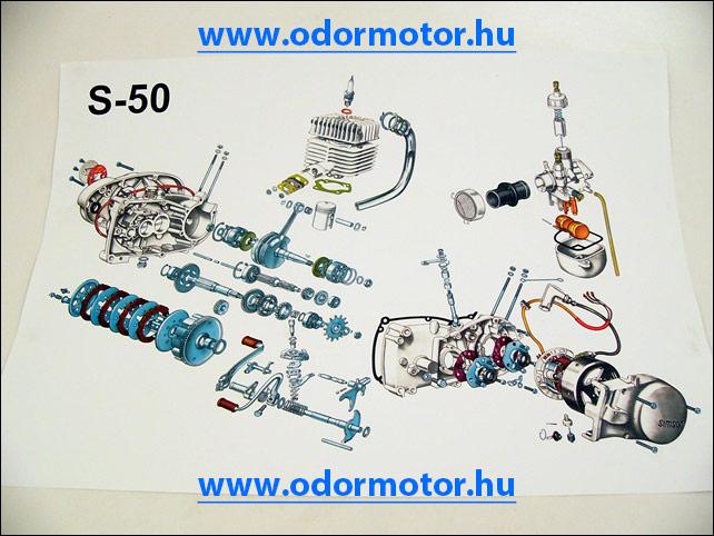 SIMSON S50 SZERELÉSI ÁBRA S50 - 2990 Ft