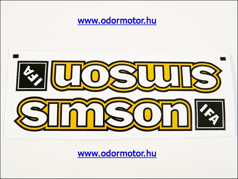 SIMSON S50 MATRICA BENZINTANKRA /SÁRGA/ PÁR - 1790 Ft