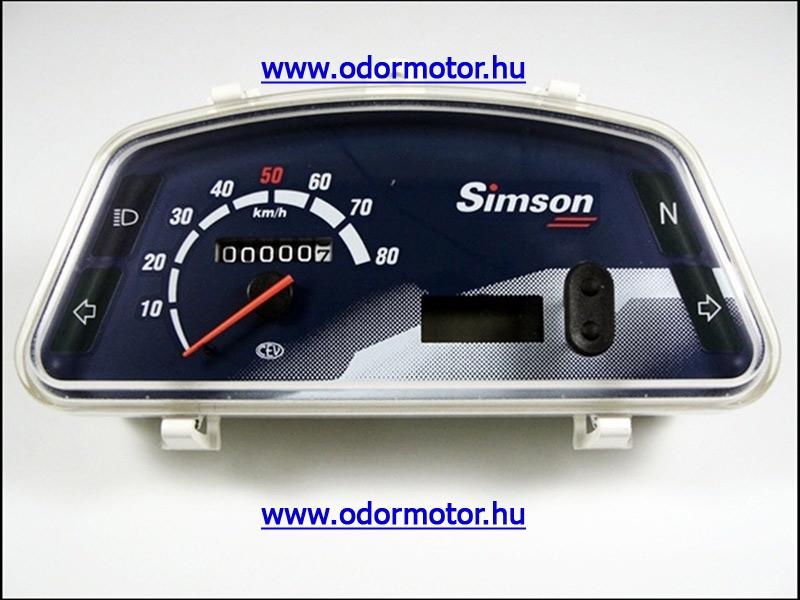 SIMSON ROLLER KILOMÉTER ÓRA SR50/80 XG,XC,XGE,XCE - 15190 Ft