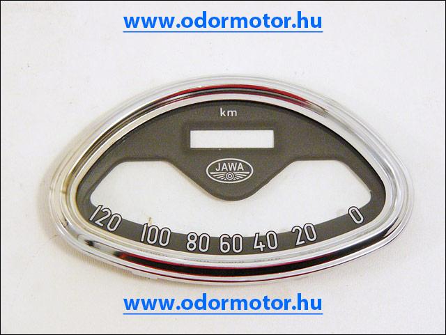 JAWA 250 KILOMÉTER ÓRA ÜVEG+KERET /120KM/H/ - 8790 Ft