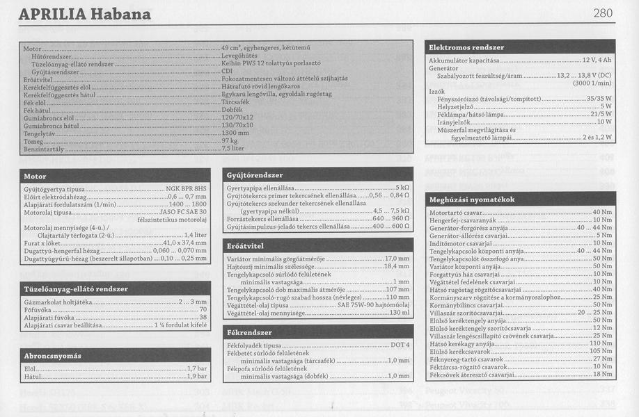 Robogó szervíz és javítási leírás könyv, 3. oldal
