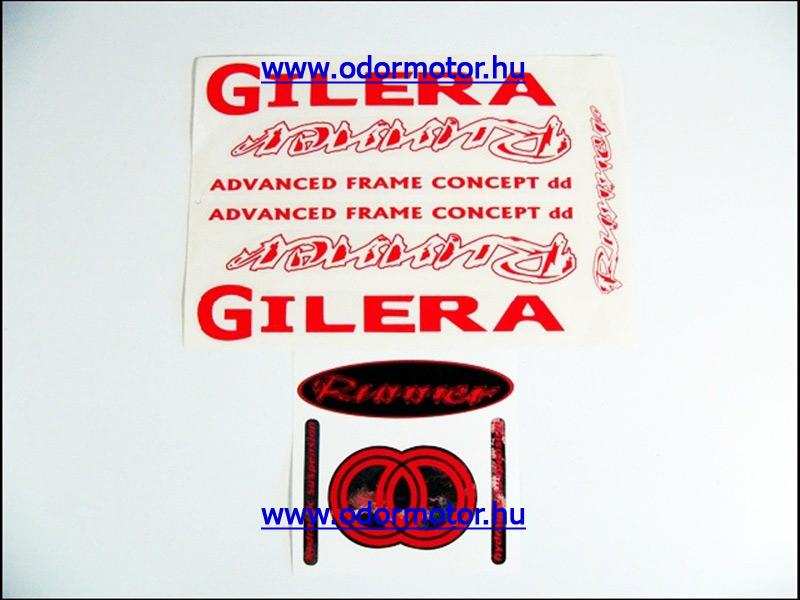 GILERA RUNNER MATRICA KÉSZLET RUNNER /PIROS/ - 4790 Ft