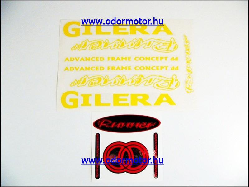 GILERA RUNNER MATRICA KÉSZLET RUNNER /SÁRGA/ - 4790 Ft