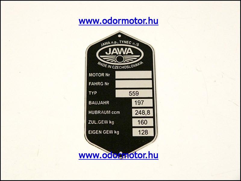 JAWA 250 TiPUSTÁBLA /559/ - 1790 Ft