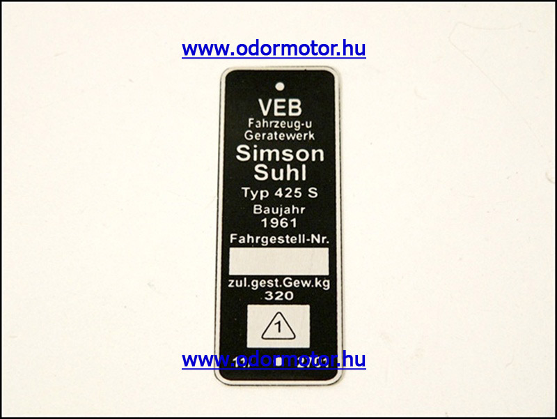 SIMSON 250 TiPUSTÁBLA /425S/ - 1790 Ft